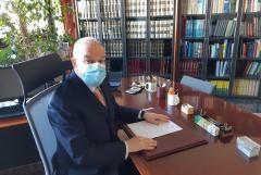 The Rector, professor Angelo Tagliabue